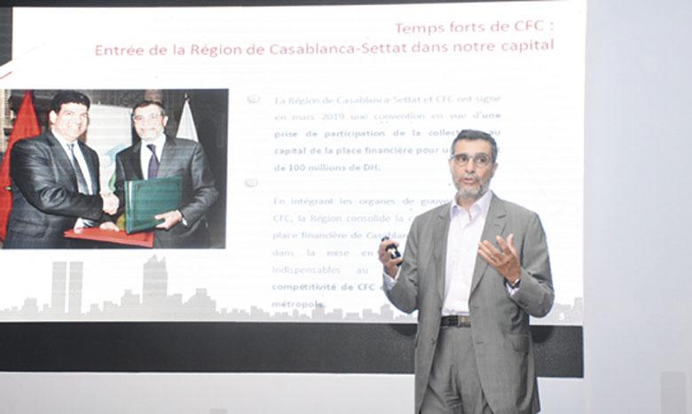 «Nous sommes fiers d'annoncer que la tour CFC a accueilli ses premiers locataires, et nous attendons l'installation de la supervision bancaire de Bank Al-Maghrib prévue en juillet», a annoncé le DG de CFC, Said Ibrahimi. Ph.Saouri