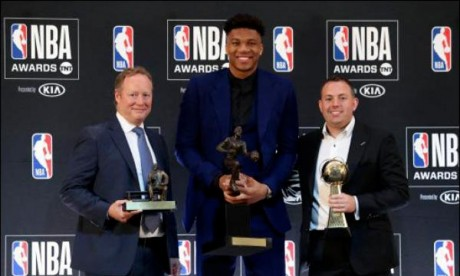 Antetokounmpo sacré meilleur joueur NBA