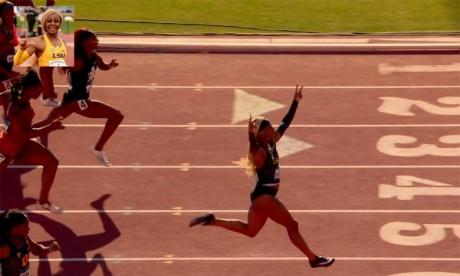 L'Américaine Richardson frappe fort sur 100 m