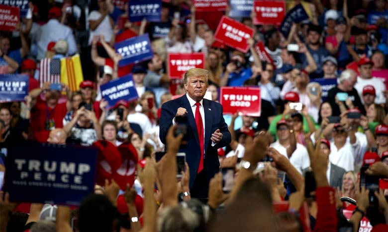 Très à l'aise au pupitre,  Trump a galvanisé les quelque 20.000 supporteurs venus l'écouter à Orlando. Ph : AFP