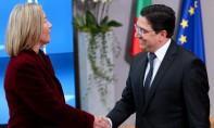 Nasser Bourita, ministre des Affaires étrangères et de la Coopération Internationale, et Federica Mogherini, Haute Représentante de l'UE pour les Affaires étrangères et la Politique de sécurité, vice-présidente de la Commission européenne. Ph :  AFP