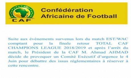 Le président de la CAF convoque une réunion du comité exécutif d'urgence