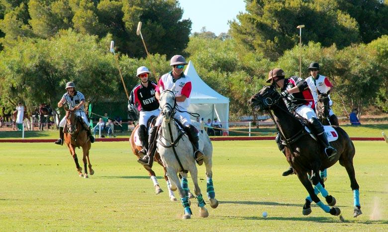 Le Maroc participe au Trophée international Mohammed VI de Polo avec deux équipes ; l'équipe nationale (A) représentée par la Garde royale et l'équipe nationale (B) représentée par le Club Nakhil. Ph : MAP