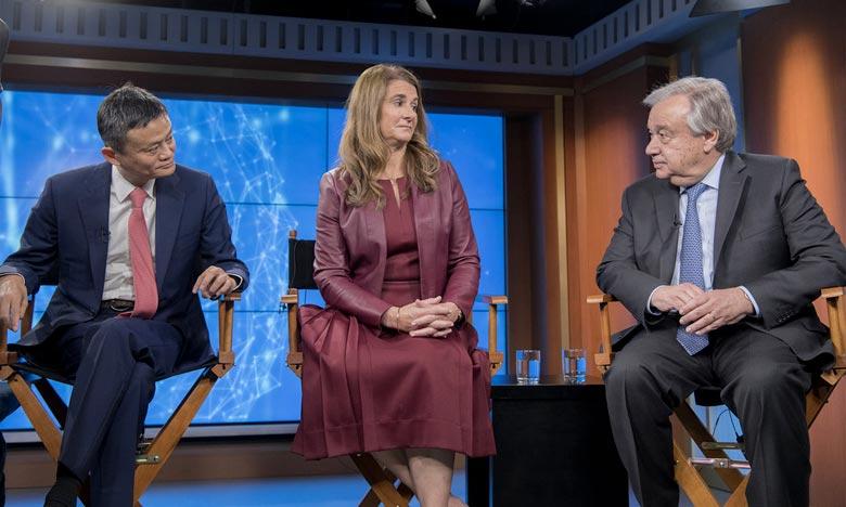 La présentation du rapport a été marqué par une discussion en direct sur le Web, à laquelle ont participé António Guterres, Jack Ma et Melinda Gates, discutant de la manière dont la coopération et la technologie numériques peuvent contribuer à la réalisation du Programme 2030. Ph : un.org