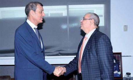 M. Mohammed Haitami accueillant M. Abdeladim Lhafi. Reportage Photos Aissa Saouri