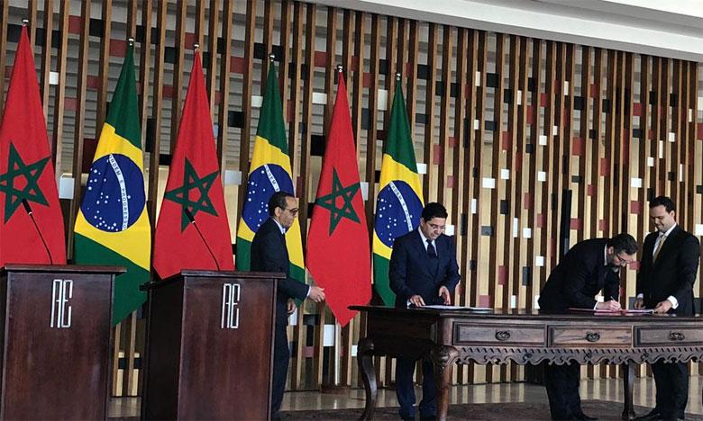 Le Maroc et le Brésil relancent leur partenariat  à travers la signature de sept accords