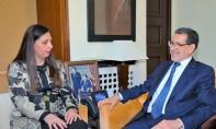 Saâd Eddine El Othmani s'entretient avec la secrétaire exécutive de la CESAO