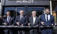 De gauche à droite : Massimo Baggi, ambassadeur de la Suisse au Maroc, Ricardo Guadalupe, CEO de Hublot, Kamal Sefrioui, Chairman et CEO de Mystère et David Tedeschi, directeur régional de Hublot. Ph. DR