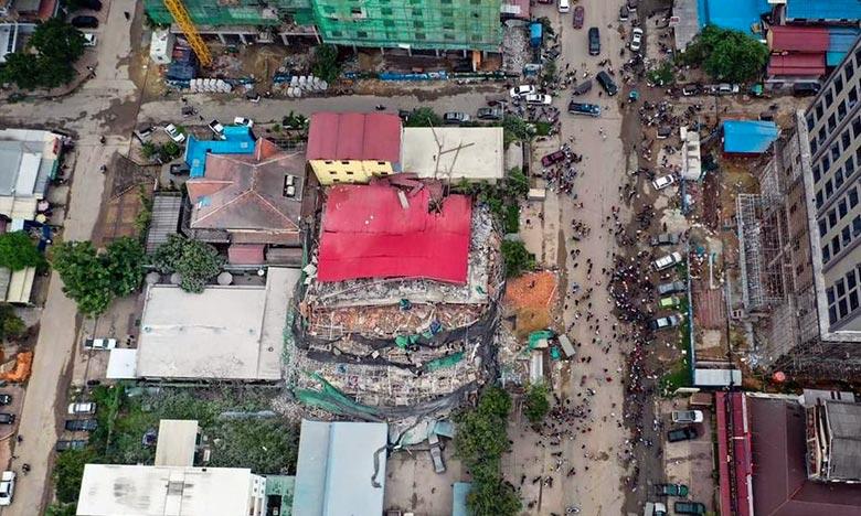 Cambodge: effondrement d'un immeuble en cours de construction