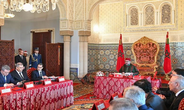Sa Majesté le Roi Mohammed VI préside au Palais Royal à Rabat  un Conseil des ministres