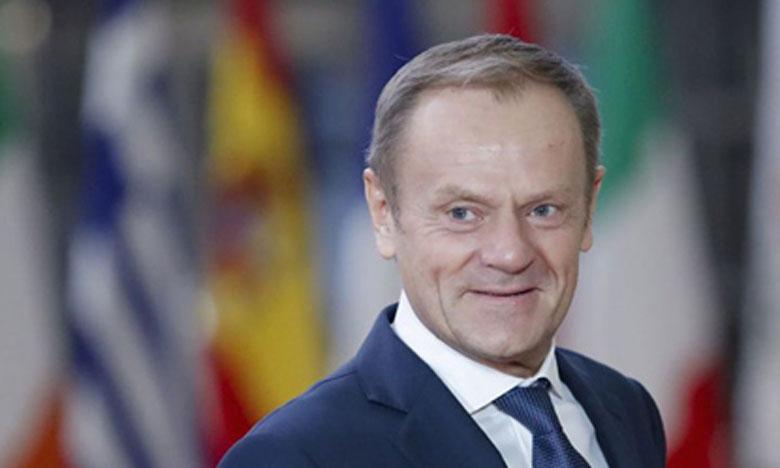 L'accord de retrait n'est pas ouvert à la renégociation, a dit le président du Conseil européen, Donald Tusk. Ph. DR