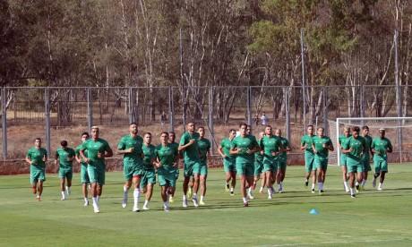 L'Equipe nationale A effectuera sa deuxième séance d'entrainement ce mardi. Ph. FRMF