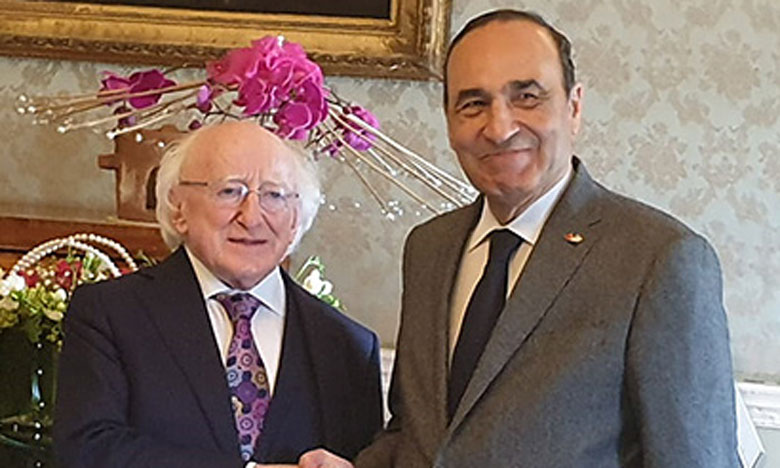 Habib El Malki reçu par le Président de la République d'Irlande