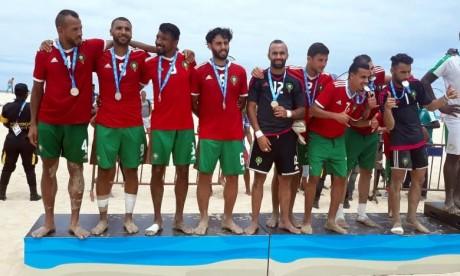 Les médailles d'or du Maroc ont été remportées en beach-tennis. Ph. FRMF