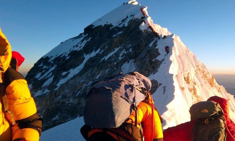 Des centaines d'alpinistes viennent du monde entier en Inde chaque année pour tenter l'ascension de sommets qui font partie de la chaîne de l'Himalaya. Ph :  AFP