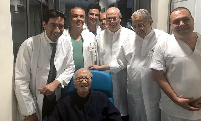 Le Président Béji Caid Essebsi quitte l'hôpital