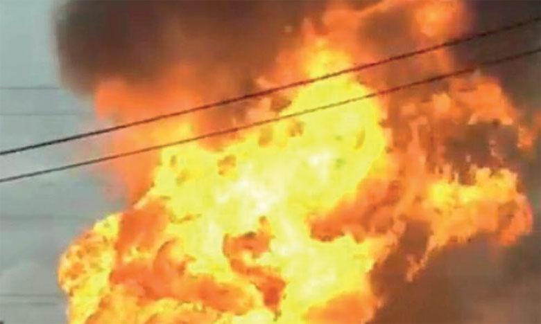 Incendie géant dans une centrale thermique en banlieue de Moscou
