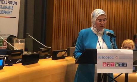 Nezha El Ouafi souligne l'engagement résolu  du Maroc sur la voie du développement durable