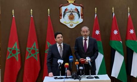 S.A.R. le Prince Fayçal ben Al-Hussein reçoit le ministre des Affaires étrangères et de la coopération internationale