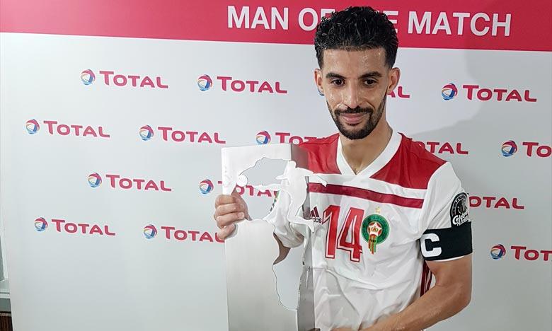Mbark Boussoufa, homme du match Maroc-Afrique du Sud
