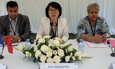 Lors de la cérémonie, Mme Soyoung Kim a donné un aperçu des différentes actions, opérations et missions menées par la KOICA.