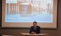 Philippe Ratto, DG de ''RATP Dev Casablanca'', lors d'un point de presse tenu le 18 juillet 2019 à Casablanca. Ph. Sradni