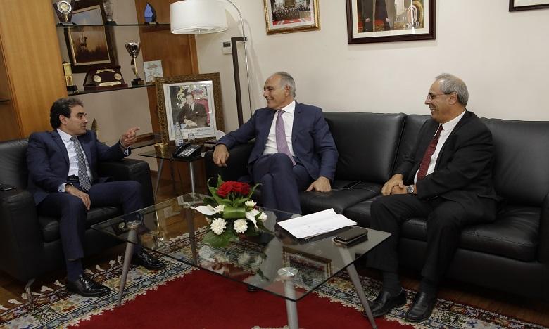 13e région de la CGEM: Entretiens entre Salaheddine Mezouar et Abdelkrim Benatiq