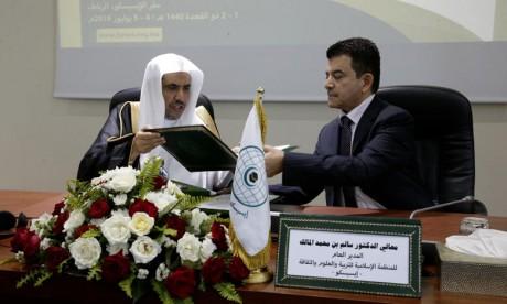 l'accord porte sur la coopération entre les deux institutions dans l'organisation de conférences, séminaires, forums, réunions, ateliers, sessions de formation et des programmes communs dans plusieurs domaines. Ph : MAP