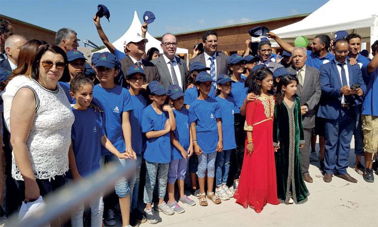 Les enfants bénéficiaires ont fait part de leur joie de passer les vacances à El Haouzia et sa très belle plage labellisée «Pavillon bleu».