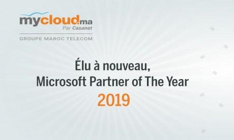 Mycloud.ma par Casanet désigné Country Partner of the Year par Microsoft