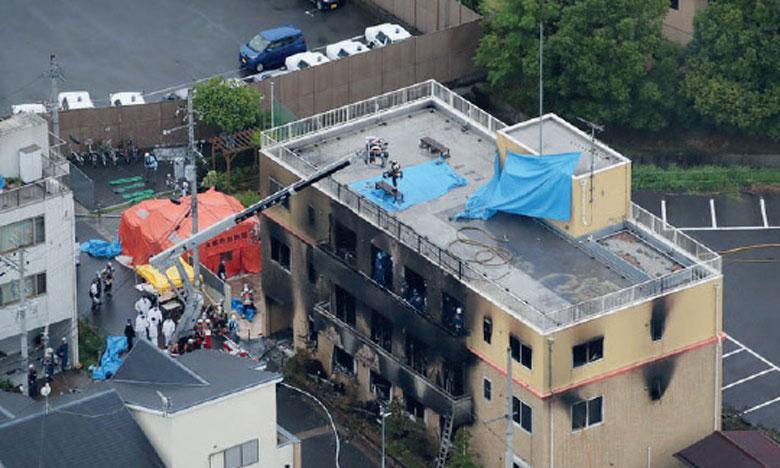 L'incendie meurtrier d'un studio d'animation suscite l'émoi