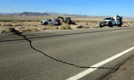 Le tremblement de terre, le plus intense dans le sud de la Californie depuis 25 ans, a été ressenti par plus de 20 millions de personnes, de Los Angeles à Las Vegas. Ph :  AFP