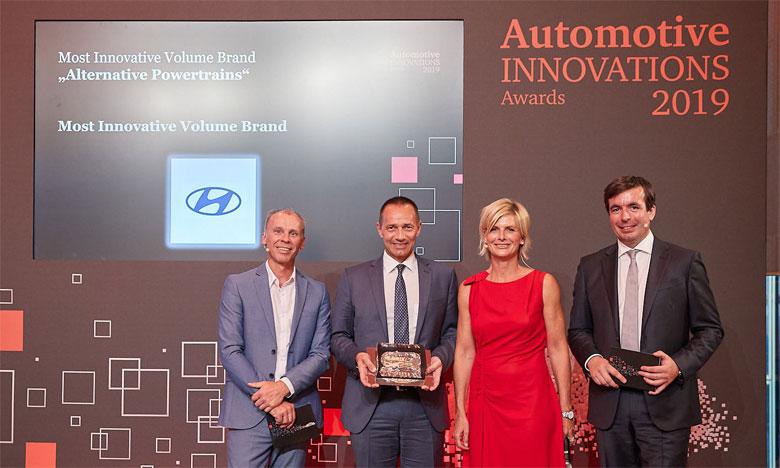 La réception des Prix s'est faite par Jürgen Koller, directeur général de Hyundai Motor en Allemagne.