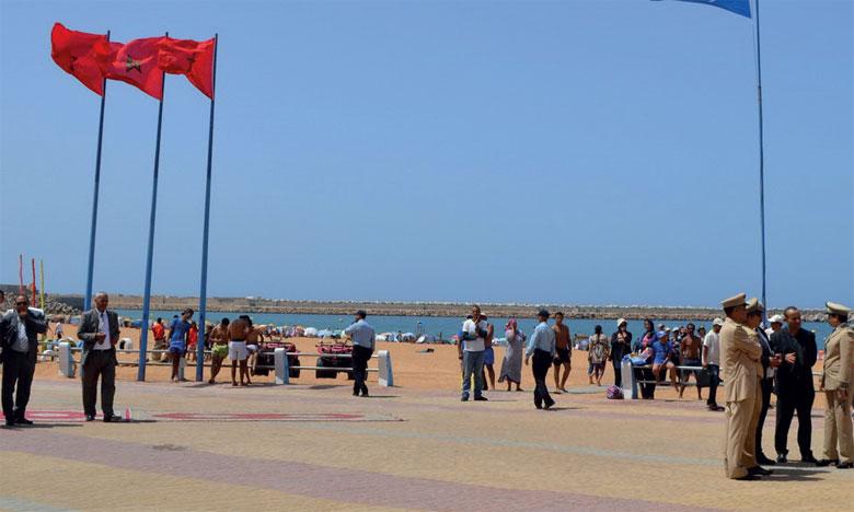Le «Pavillon bleu» flotte à nouveau sur la plage Safi Municipale