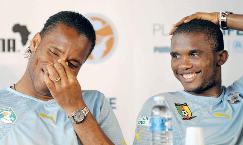 Samuel Eto'o et Didier Drogba deviennent proches collaborateurs d'Ahmad Ahmad