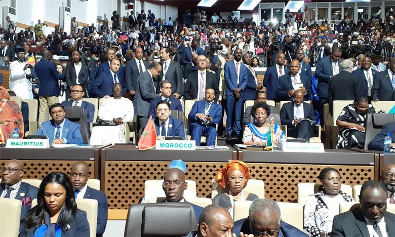 Nasser Bourita représente S.M. le Roi  au 12e Sommet extraordinaire de l'UA  à Niamey