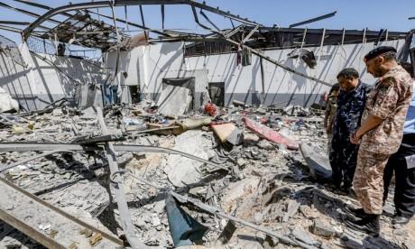 Raid aérien de Tripoli : Neuf marocains blessés