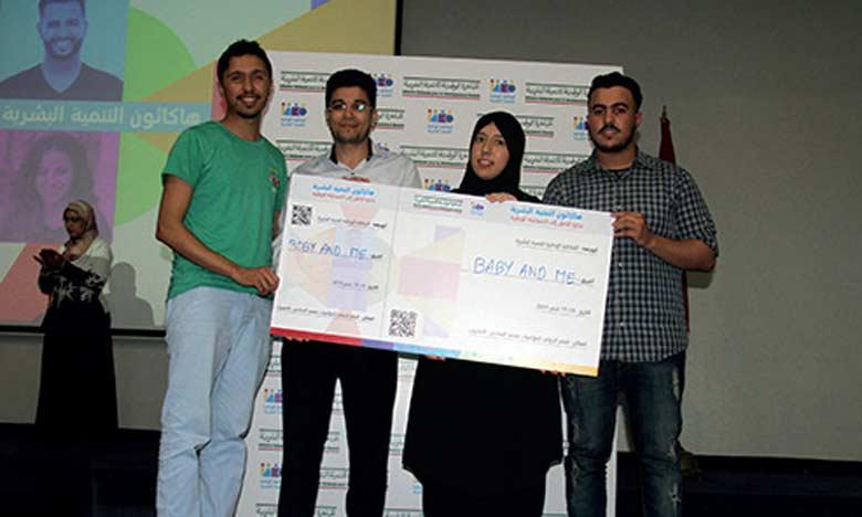 Le projet «Baby and Me» remporte le 1er Prix  du hackathon du développement humain