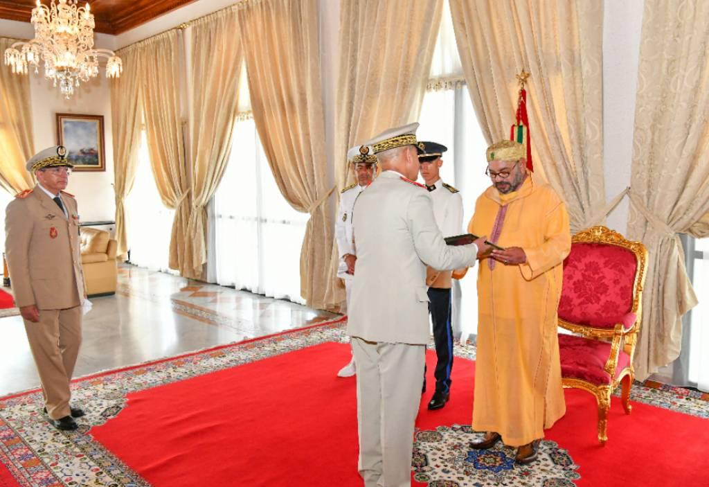 Sa Majesté le Roi Mohammed VI reçoit les vœux de la famille  des Forces Armées Royales à l'occasion de la Fête du Trône