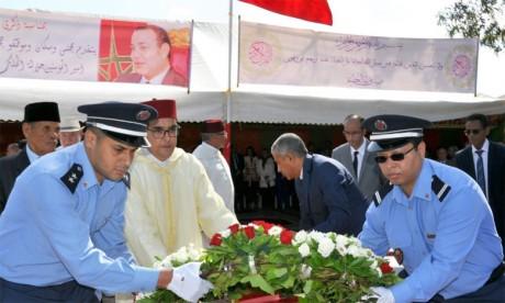 Cérémonie au cimetière Achouhada d'El Adir pour célébrer  le 66e anniversaire de la Révolution du Roi et du Peuple