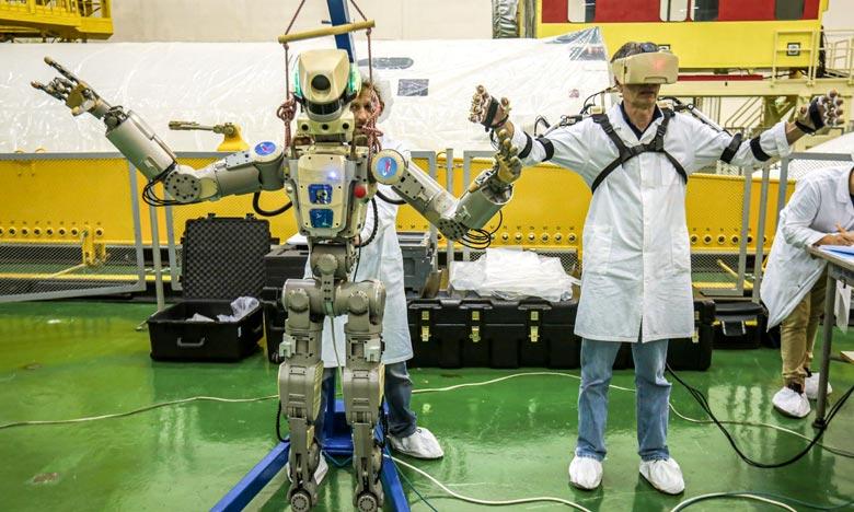 Le robot, qui porte le numéro d'identification Skybot F850, a décollé à bord d'une fusée Soyouz à 03H38 GMT. Ph. AFP