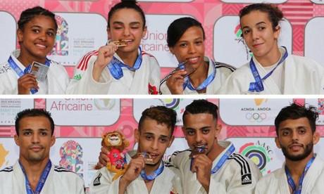 Les judokas marocains hissent le Maroc en tête  du classement par nations