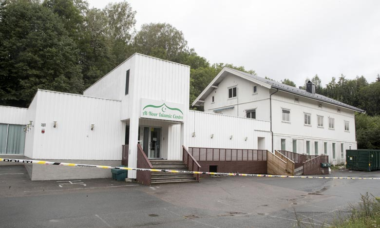 La fusillade a eu lieu dans le centre islamique Al-Nour à Baerum, ville de la banlieue d'Oslo. Ph :  AFP