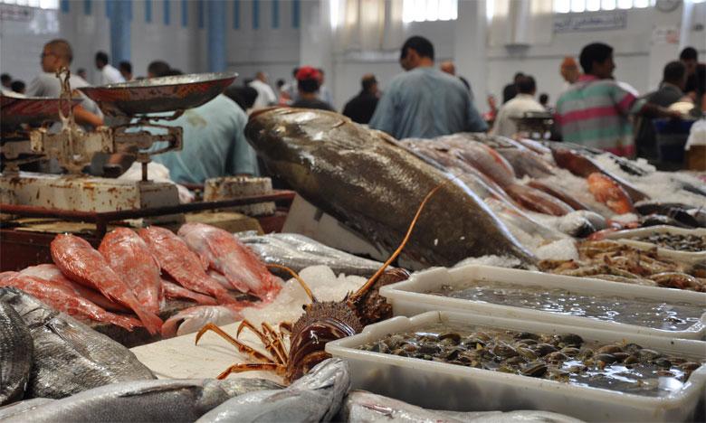 Inauguration d'un marché de vente de poisson au détail