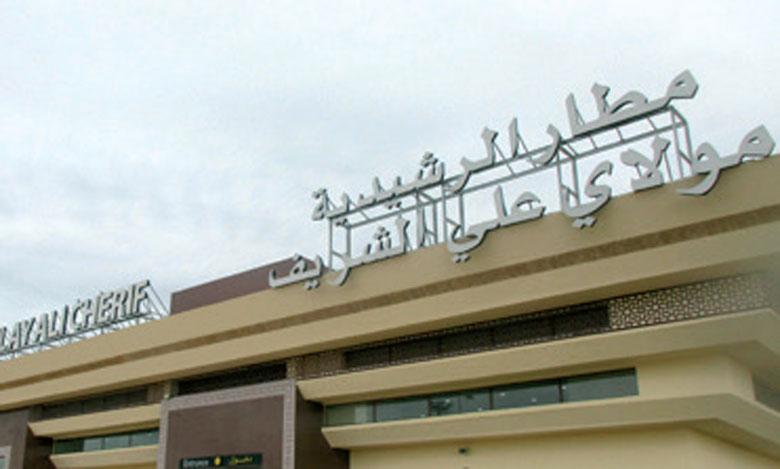 Forte hausse du trafic aérien  à l'aéroport Moulay Ali Cherif