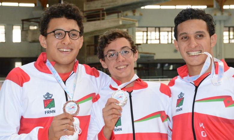Treize médailles pour les nageurs marocains  lors de la première journée