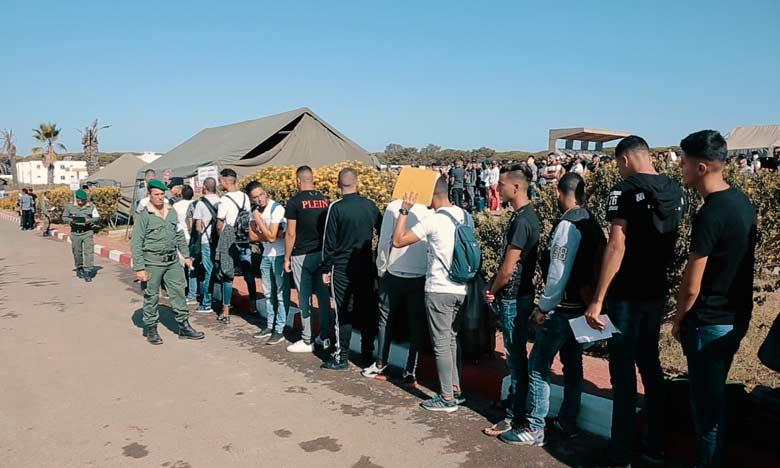 Service militaire : Plus de 900 candidats  accueillis en quatre jours