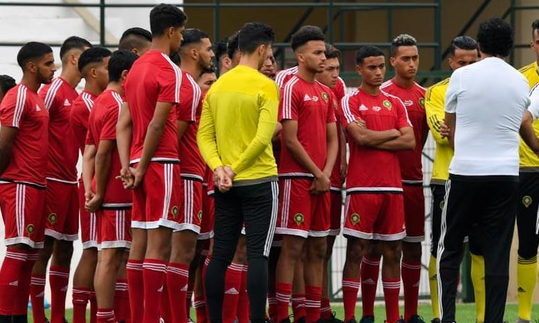 La sélection marocaine U20 a été déclarée par la CAF victorieuse du match qui devait l'opposer face à l'Afrique du Sud. Ph : frmf.ma