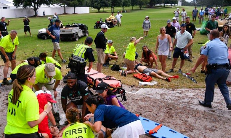 PGA Tour : la foudre blesse six spectateurs à Atlanta