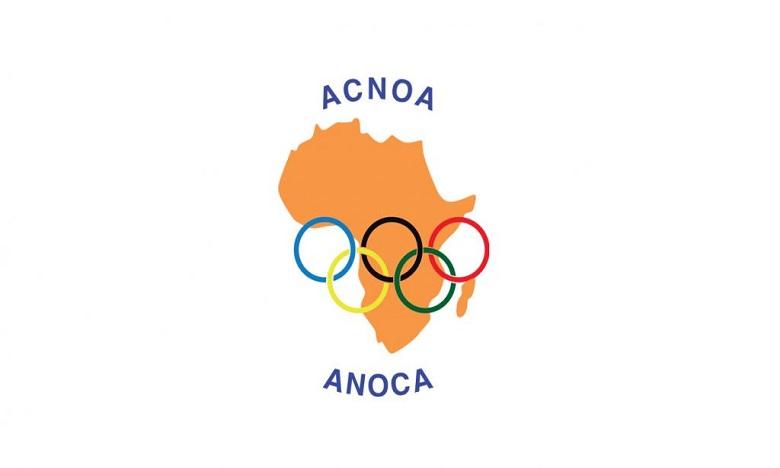 La décoration de l'ordre de mérite olympique africain décernée à S.M. le Roi par l'Association des comités nationaux olympiques d'Afrique